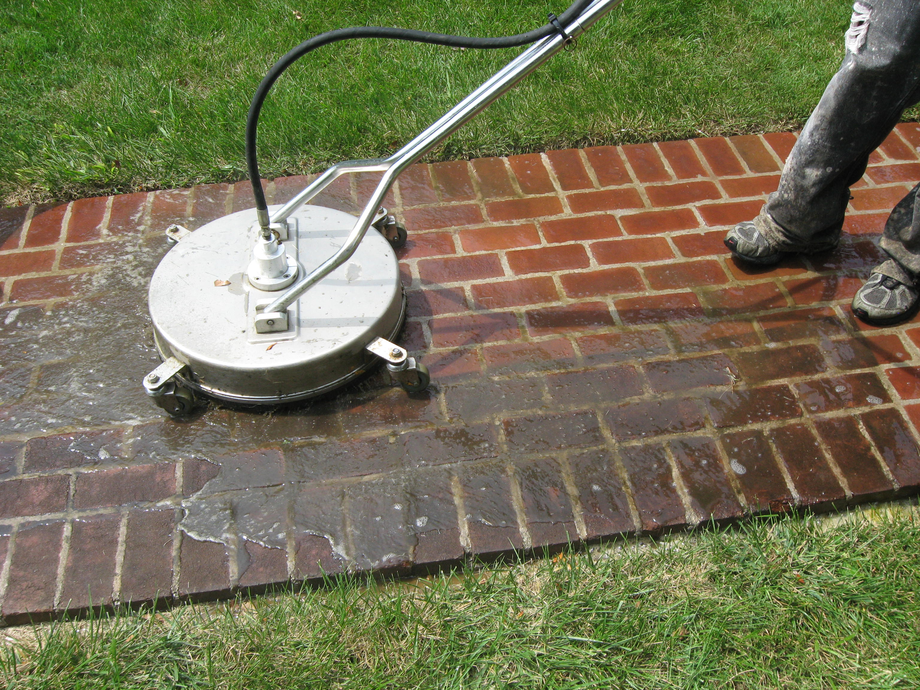 Brick Patio Cleaning in Lexington KY 40502